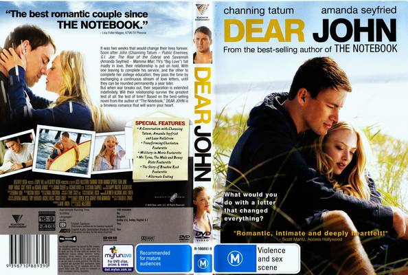 the notebook and dear john essay The notebook is a 1996 romantic novel by american novelist nicholas sparks, the novel was later adapted into a popular film of the same name, in 2004.